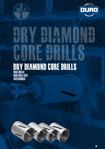 Duro Dry Diamond Core Drills