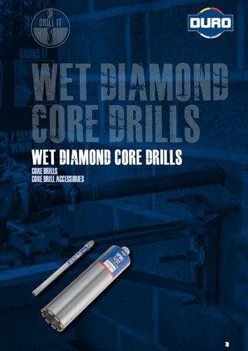 Duro Wet Diamond Core Drills